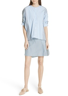 Carven Layered Ruffle Trim Shirtdress
