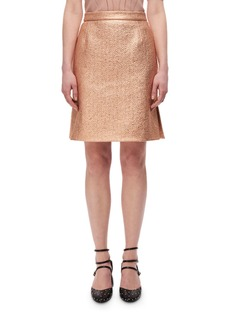 Carven Metallic High-Rise Straight Skirt
