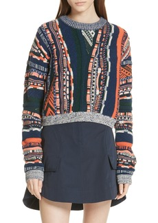 Carven Multistripe Sweater