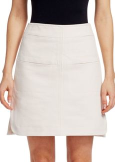Carven Panelled A-Line Skirt