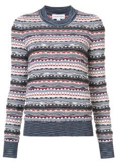 Carven patterned knit jumper - Multicolour