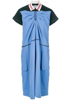 Carven polo shirt midi dress - Blue