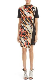 Carven Print Cotton & Silk T-Shirt Dress