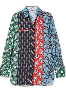 Carven Printed Silk-twill Shirt