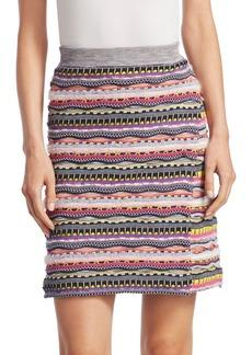 Carven Rainbow Wrap Knit Skirt