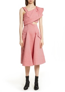 Carven Robe Genou Dress