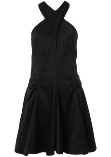 Carven ruched detail halterneck dress - Black