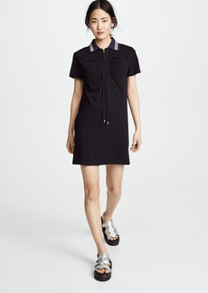 Carven Ruched Detail Polo Dress