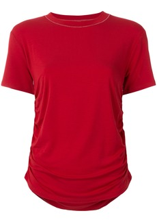 Carven ruched side T-shirt - Red
