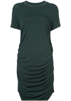 Carven ruched T-shirt dress - Green