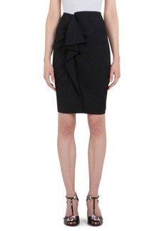 Carven Ruffle Front Wrap Skirt
