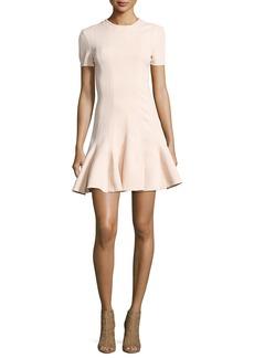 Carven Short Sleeve Mini Dress