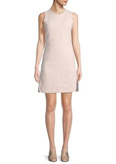 Carven Sleeveless Paneled Stitching A-Line Dress