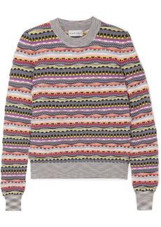 Carven Textured cotton-blend sweater