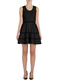 Carven Tiered Fit-And-Flare Dress