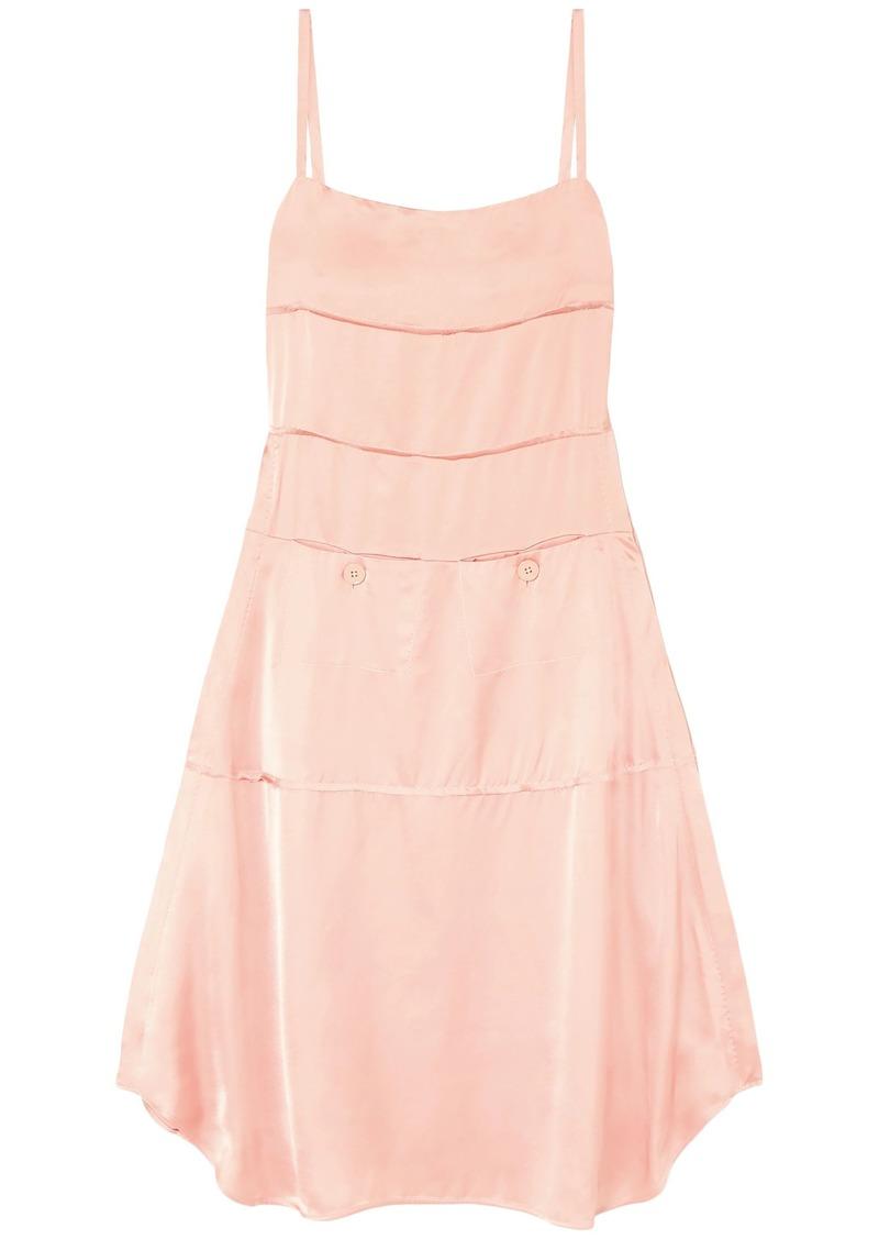 Carven Woman Satin Midi Slip Dress Blush