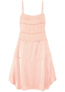 Carven Woman Satin Midi Slip Dress Blush
