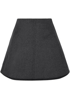 Carven Woman Wool And Cashmere-blend Mini Skirt Charcoal