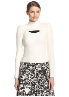 Carven Women's Peek-A-Boo Jewel Sweater  S