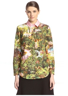 Carven Women's Printed Poplin Shirt  38FR/US