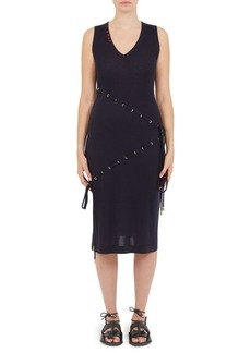 Carven Wool Drawstring Dress