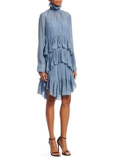 Carven Celadon Ruffle Shirtdress Dress