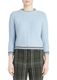 Carven Chunky Wool Cropped Sweater