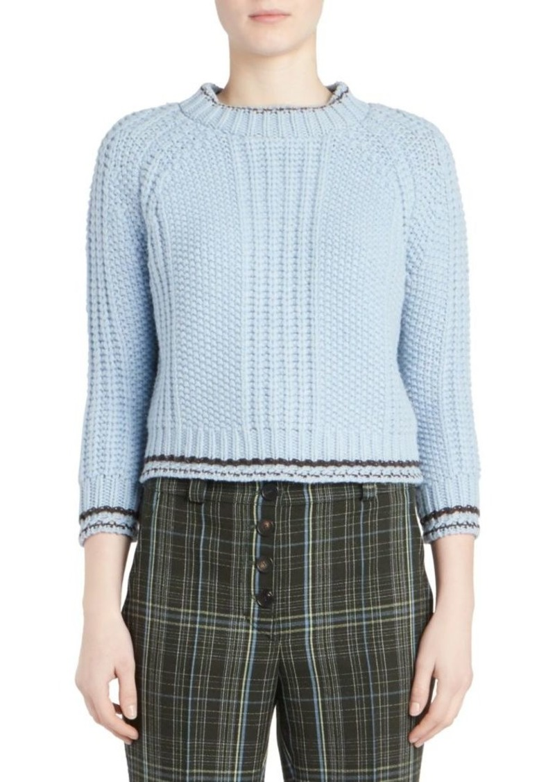 202bbdba2844 Carven Chunky Wool Cropped Sweater