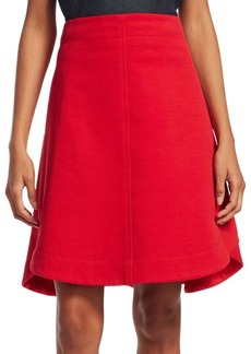 Carven Cotton-Blend Flare Skirt