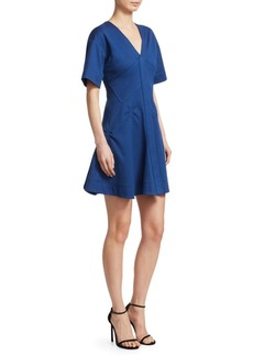 Carven Cotton Pique Fit-And-Flare Dress