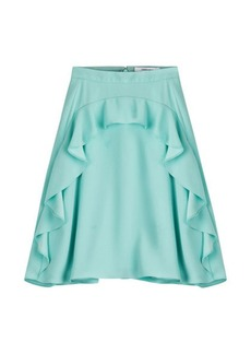 Carven Crepe Skirt with Ruffles