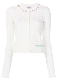 Carven criss cross stitches cardigan
