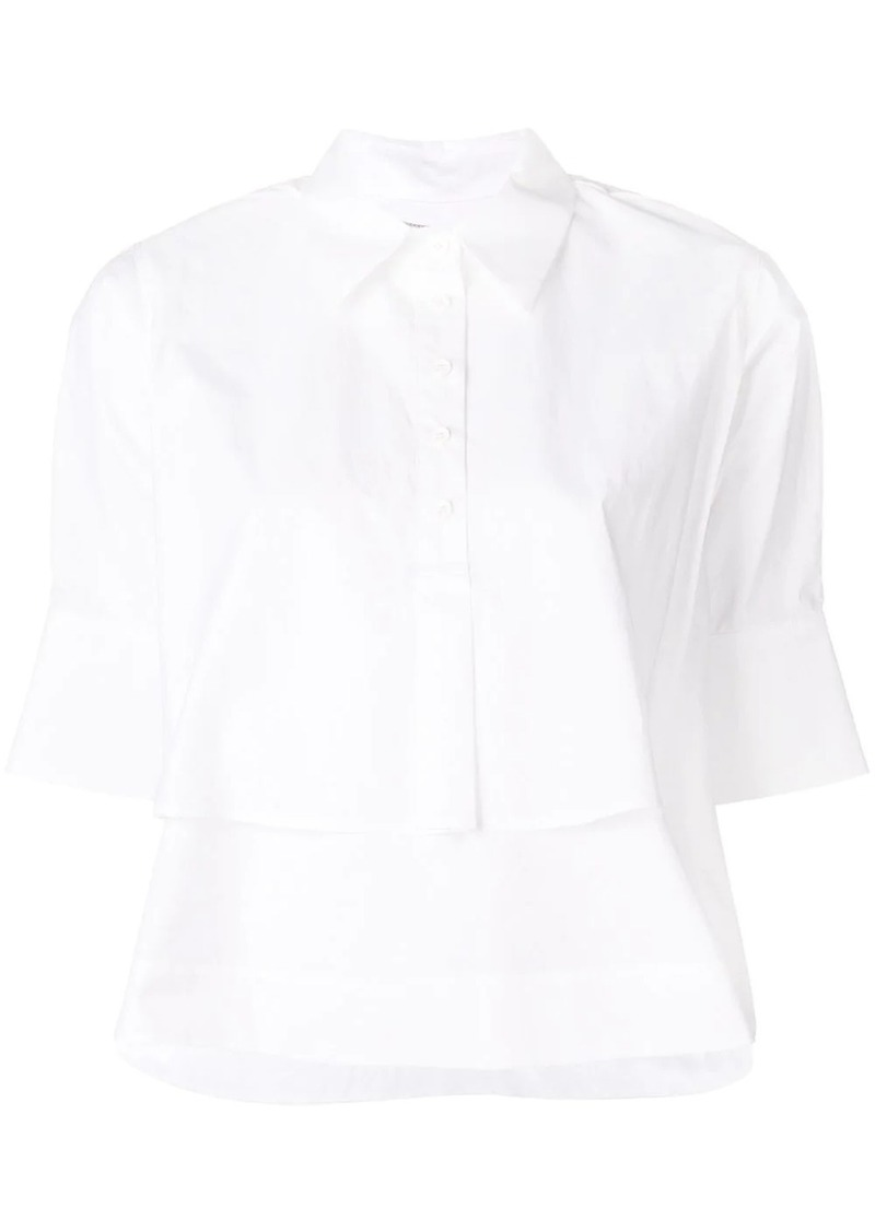 Carven cropped poplin shirt