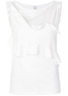 Carven double flounce top