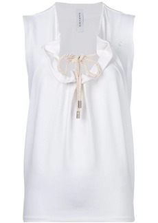 Carven drawstring front top