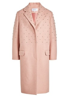 Carven Embellished Coat with Wool