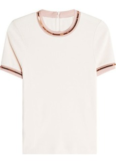 Carven Embellished Top with Cotton