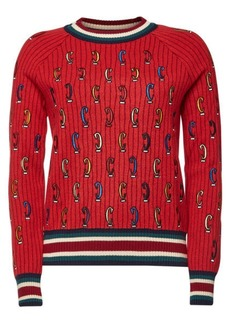 Carven Embroidered Wool Pullover