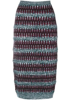 Carven ethnic knit pencil skirt