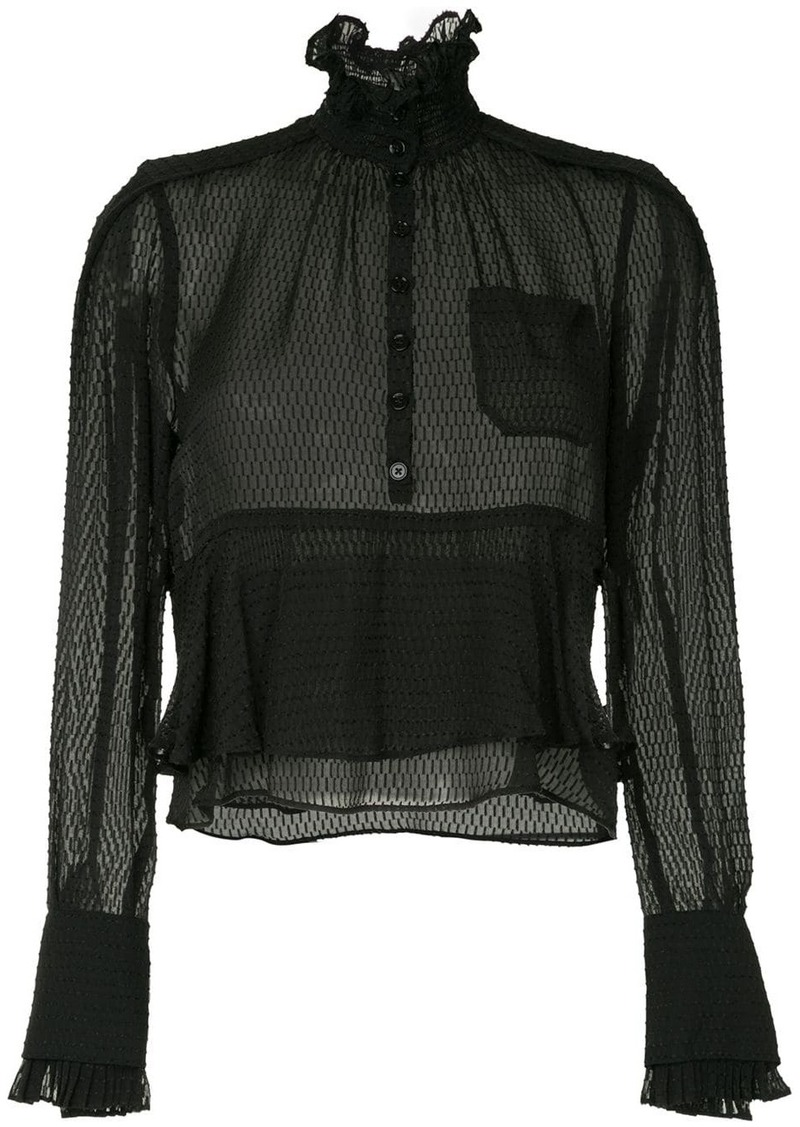 Carven frilled loose blouse