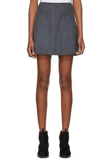 Carven Grey Cashmere & Wool Miniskirt