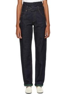 Carven Indigo Baggy Jeans
