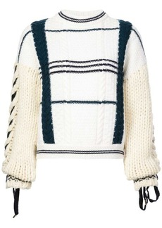 Carven knit mesh sweater