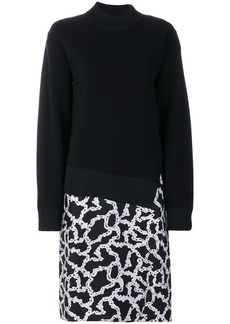 Carven link print sweat dress