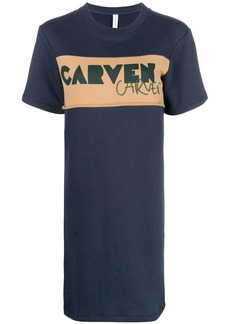 Carven logo T-shirt dress