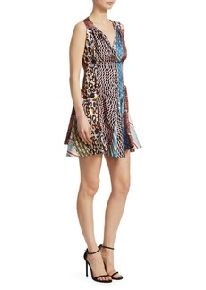 Carven Mixed Print Mini Dress
