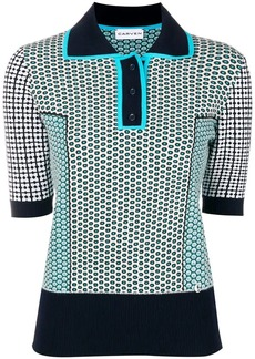 Carven motifs polo shirt