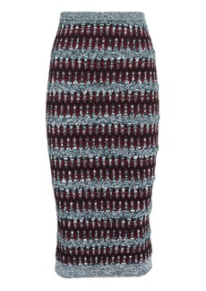 Carven Multi Knit Pencil Skirt