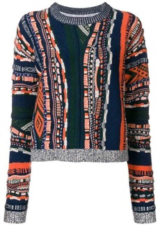 Carven multi-pattern sweater