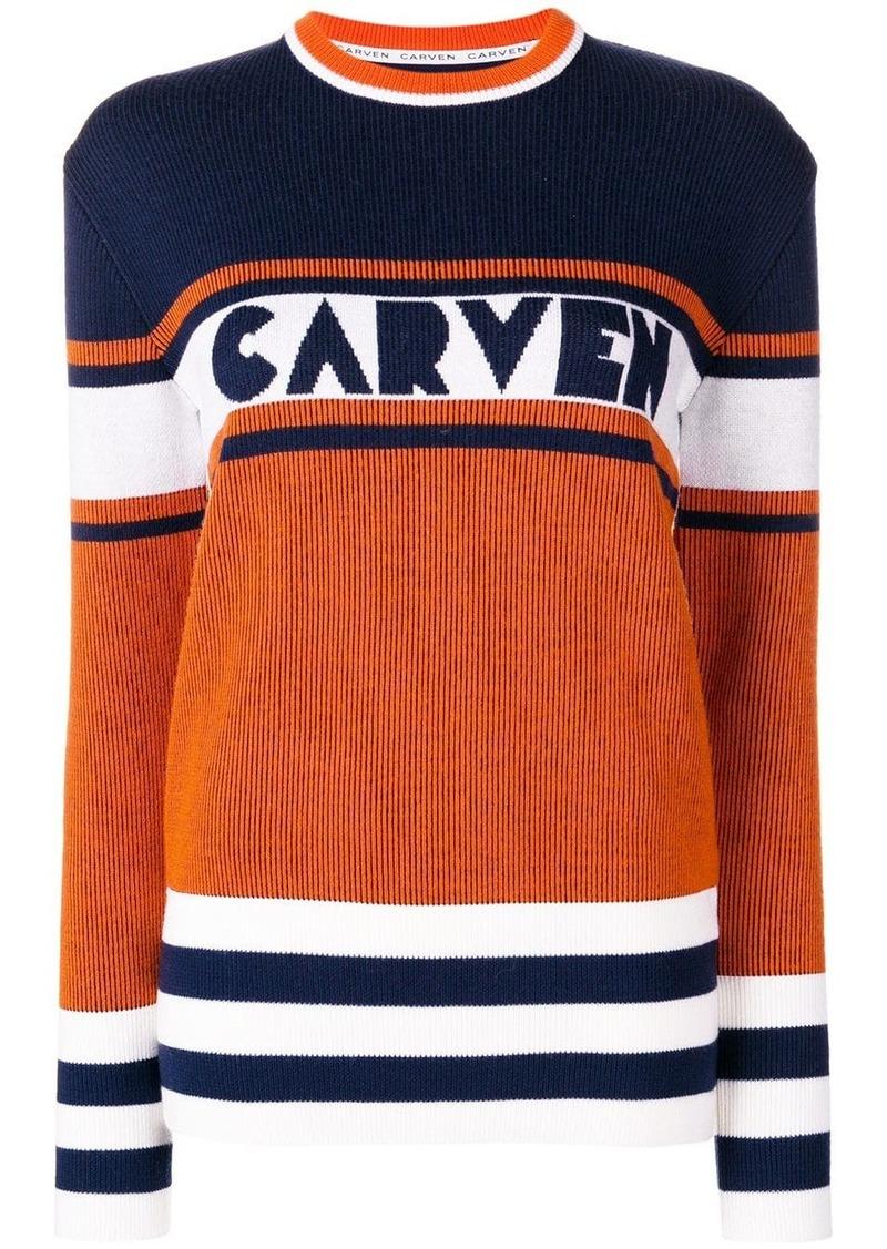 Carven panelled jumper